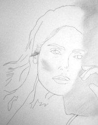 Drawing Salma Hayek